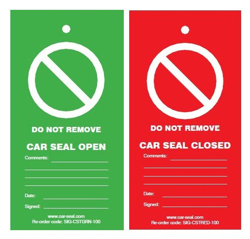 Total Lockout Car Seal Tags Pack of 100 image