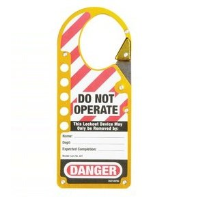 HAS-427YLW-snap-on-labelled-hasp