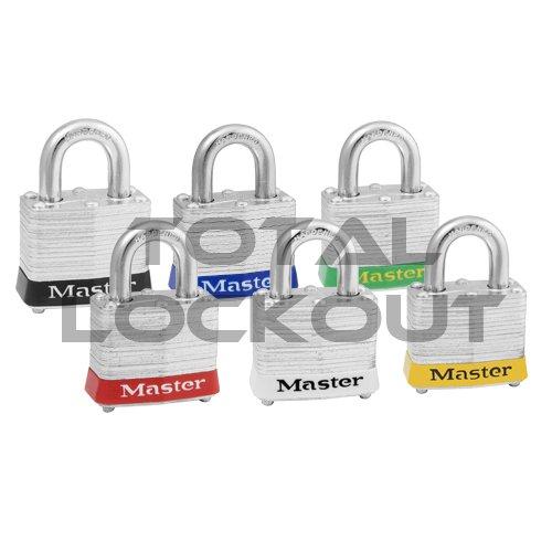Total Lockout Master Lock Laminated Steel 3 Series Safety Padlock image
