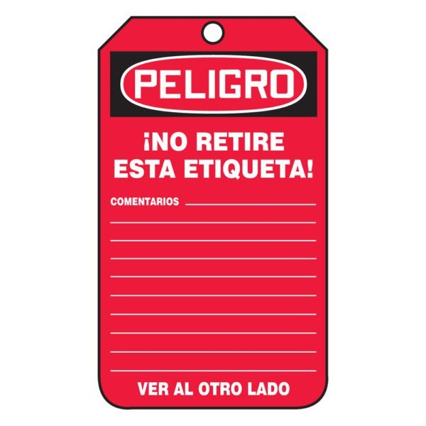 SIG-SHMDT250-No-Retire-Esta-Etiqueta-Tags-Red-Back