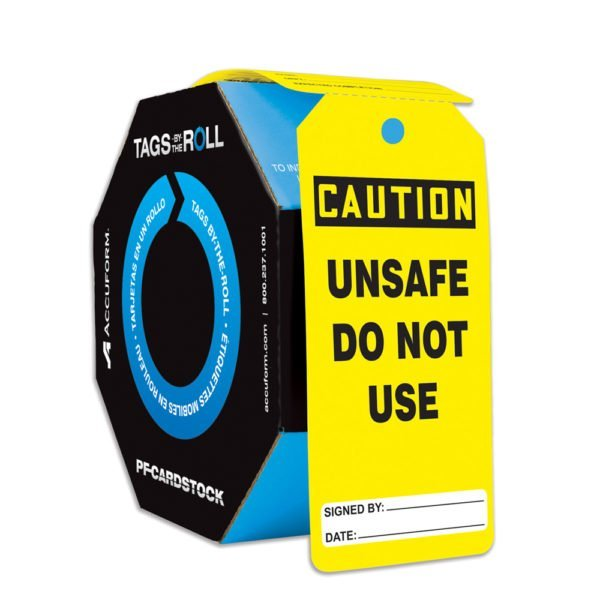 SIG-TAR132-TAR154-Unsafe-Do-Not-Use-Roll-Of-Tags