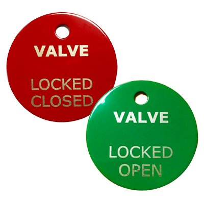 Total Lockout Stainless Steel Valve Tag image