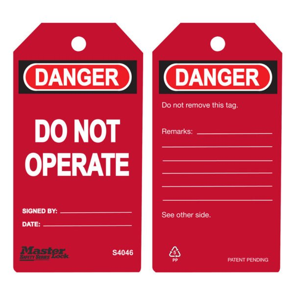 SIG-S4046-Do-Not-Operate-Tag