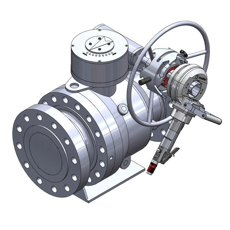 ball valve portable actuator