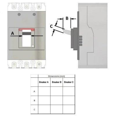 circuit breaker dimensions