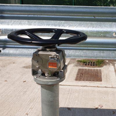 drain valve interlock