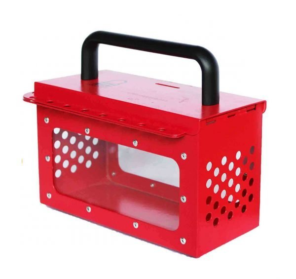 STO-BAN-X05RED-Group-Lockout-Box-Red